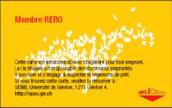 Carte RERO